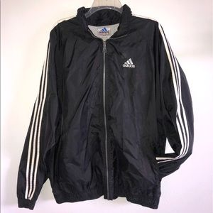 Adidas Windbreaker /Black&White Oversized Vintage